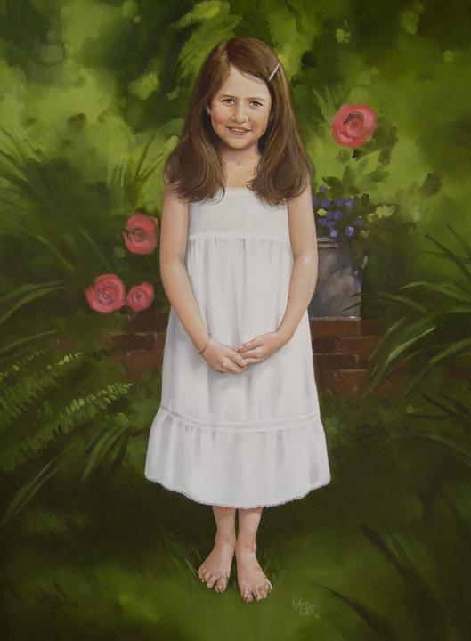 Childrens Oil Portrait Artist Atlanta